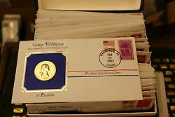 Presidential Medals First Day Cover Collection Setandiumlandfrac34andnbsp
