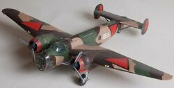 Fokker Tv Netherlands Air Force Airplane Wood Model Replica Small Free Shipping