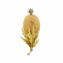 Buccellati 18K Gold Multi-color Pineapple Brooch Pin $11220