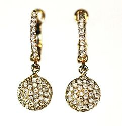 14k Yellow Or White Gold Dangling Earring With Diamond Dia 0.60cts