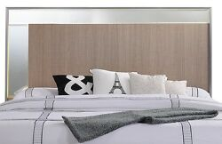 New Modern Style Taupe Bronze Finsh Cal King Size Bed Headbaord Mirrored Bedroom