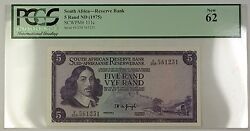 1975 No Date South Africa Reserve Bank 5 Rand Note Scwpm 111c Pcgs New 62