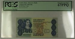 1983-90 No Date South Africa 2 Rand Bank Note Scwpm 118d Pcgs Gem 67 Ppq