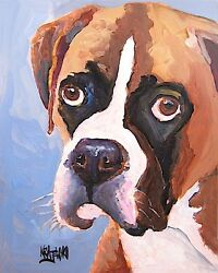 Boxer Dog 8x10 Art Print Signed by Artist Ron Krajewski
