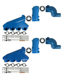 Barr Manifold Exhaust Kit For Crusader Big Block Gm End Style W/ 8 Risers