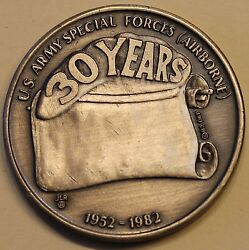 10th Special Forces Group Airborne 30th Annviersary Ser0054 Army Challenge Coin