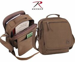 Cotton Canvas Everyday Work Shoulder Bag Rothco Brown or Green Messenger Bags $21.99