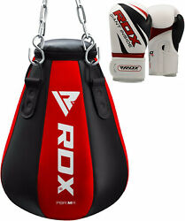 Rdx Heavy Filled Maize Punch Bag With Boxing Gloves Pear Angle Muay Thai Kick Rd