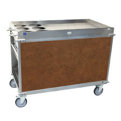 Cadco Bc-3-l1 Large Mobileserv Beverage Cart With 6 Airpot Wells
