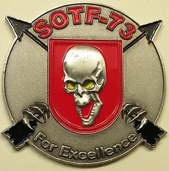 7th Special Forces Gp 3rd Bn Airborne Sotf-73 Serial 224 Army Challenge Coin