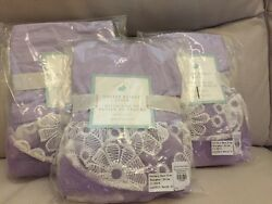 S3 New Pottery Barn Kids Lavender Tulle Lace Small Easter Basket Liner No Name