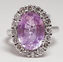 4.89ct Pink Sapphire W/g Ring - R9445