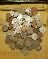 Old US Coin Estate Lot Buffalo Nickel V Nickel and Indian Cent 3 Antique Coins