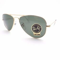 Ray Ban 3044 New Small Aviator Gold L0207 52mm Petite Authentic Sunglasses $109.95