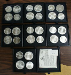 1976 Canada 5 And 10 Olympic Bu Silver 28 Coins Set 1