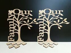 Mdf Our Family Tree 21cm Tall X 20cm Wide In Mdf Or Oak Veneer With Hearts