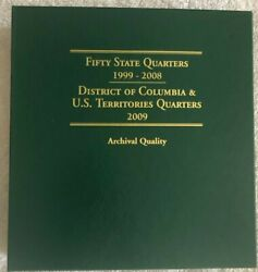 Bu Collection P And D Fifty State Quarters 1999 To 2008 And Dc, Us Territories 2009
