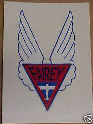 Fairey Aircraft Propeller Water Slide Decal 1930s And 1940s