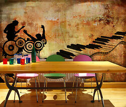 3d Piano Painting Wall Paper Print Decal Wall Deco Indoor Wall Mural