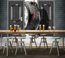 3d Tires Pattern Wall Paper Print Decal Wall Deco Indoor Wall Mural