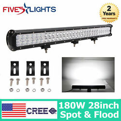 36 Inch 234w Led Light Bar Work Spot Flood For Offroad Driving Ute Auto 34/38