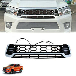 Front Daytime White Grille Grill Led Drl Fit Toyota Hilux Revo M70 M80 2015-2018