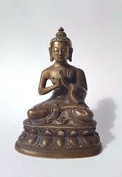 Antique statue Buddha 18 19 th century. Mongolia