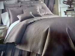 Nip Southern Living 3pc King Quilted Carlisle Mink Coverlet W 2 Kingshams