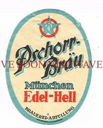 1900s Germany Pschorr-brau Edel Hell Stephens Collection Tavern Trove