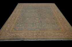 Vintage Look Hand-knotted Rug 8and039x10and039 Super Finechobi Peshawar Natural Dye Carpet