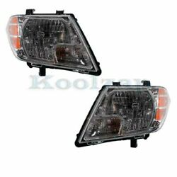 Headlight Headlamp Head Light Lamp Left And Right Side Set Pair For 09-15 Frontier