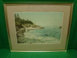 Helen Rundell Quoddy Head Lighthouse Signed And Numbered Lithograph Framed 1985