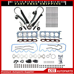 Head Gasket Set Bolts Timing Chain Kit Solenoid Valve For 07-14 Ford F150 5.4l