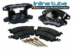 64-74 Gm Black Body Disc Brake Dual Piston Calipers Conversion Loaded Wilwood Pr