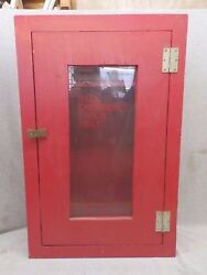 Vintage Firehouse Red Cabinet Medicine Chest Factory Cupboard 399-17r