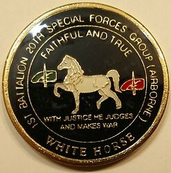 20th Special Forces Gp Airborne 1st Bn White Horse Army Challenge Coin
