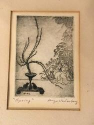 2 Still Life Etchings By Hugo Westerberg 1940 Listed Swedish American Nice Rare