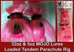 Blue Water Candy - Rock Fish Candy 32oz And 8oz Mojo Lures Loaded W/ 9 Pink Shads