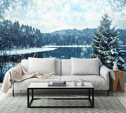 3d Snowy Trees 2123 Wall Paper Wall Print Decal Wall Deco Indoor Wall Murals