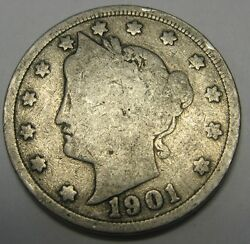 1901 Liberty V Nickel In The Good Range A Great Filler Coin Priced Right Cheap