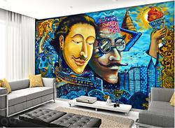 3d Man Beard Painting 9980 Wall Paper Wall Print Decal Wall Aj Wallpaper Ca