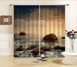 3d Stone Wave 19blockout Photo Curtain Printing Curtains Drapes Fabric Window Ca