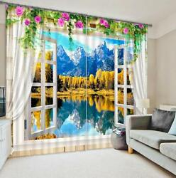 3d Snowy Water7 Blockout Photo Curtain Printing Curtains Drapes Fabric Window Au
