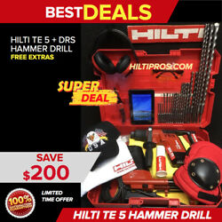 Hilti Te 5 Hammer Drill, W/ Dust Removal System, Free Tablet, Extras, Fast Ship