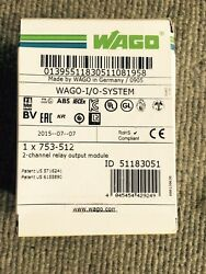 Wago I/o System 753-512- 2 Channel Relay Output Modulenew Factory Sealed