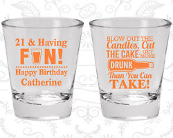 21st Birthday Shot Glasses Personalized Glass 20105 21 And Finally Legal