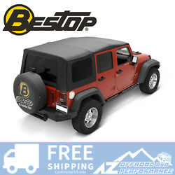 Bestop Sailcloth Replace A Top For 11-18 Jeep Wrangler Unlimited 4 Dr Tint Blk