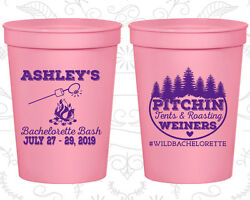 Bachelorette Party Plastic Cups 60018 Pitching Tents And Roasting Weiners Bash