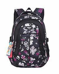 JiaYou Printed Backpack School Boys for Middle Kid Child Girl Flower No Tax $31.46