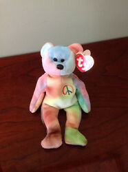 Ty Beanie Babies 1996 Peace Bear Original Collectible with Tag Errors